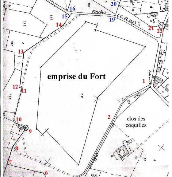 03-02-Bruissin-Plans 001-Fort et ses bornes
