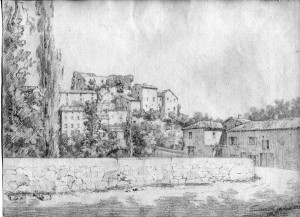 Vieux château-dessin  (1883-08-14) pf