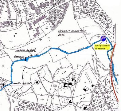 12-01-03-moulin de Bames9-Extrait cadastral 2004 annoté