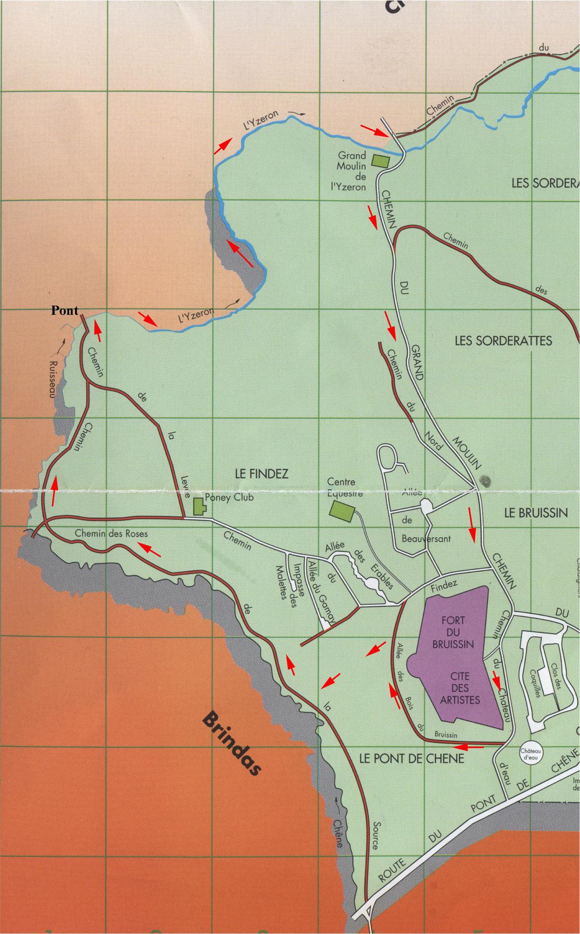 Plan du circuit des deux ruisseaux