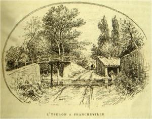 gué et passerelle Mulet (gravure Drevret)-(1892)