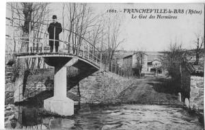 gué et passerelle Mulet (1909)