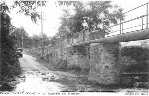 gué et passerelle Mulet (ca 1900)
