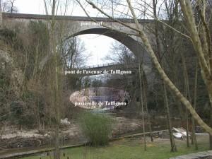 Le Pont Neuf au premier plan d'une perspective de 3 ponts (2008-03-05)